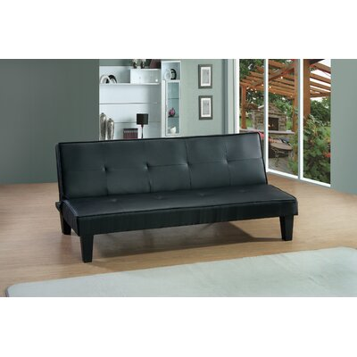 Chavez Convertible Sleeper Sofa Upholstery: Black