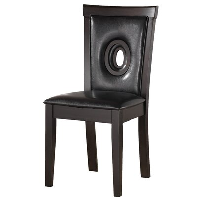 Braylon Side Chair (Set of 2) Upholstery: Black