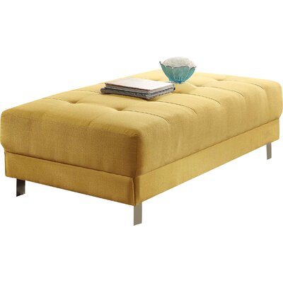Blangkejeren Ottoman Upholstery Color: Yellow