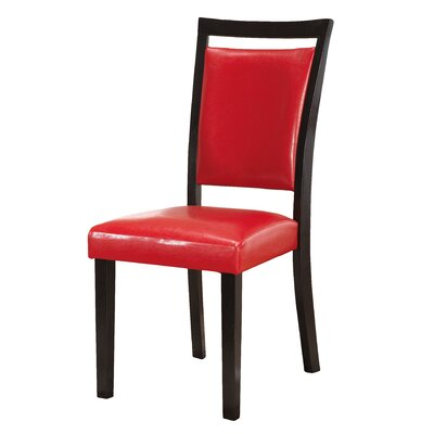 Braylon Parsons Chair (Set of 2) Upholstery: Red