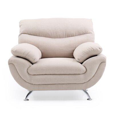 Xamiera Upholstered Armchair Color: Tan