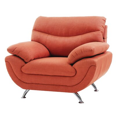 Simon Armchair Color: Orange