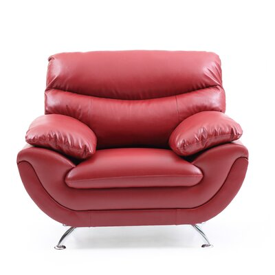 Xamiera Armchair Upholstery: Red