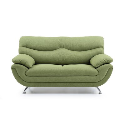 Xamiera Standard Loveseat Color: Green