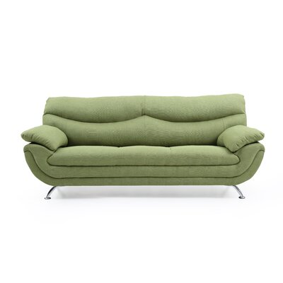 Xamiera Standard Sofa Color: Green