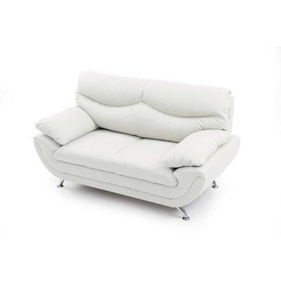Xamiera Loveseat Upholstery: White
