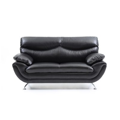 Xamiera Loveseat Color: Black