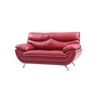 Xamiera Loveseat Color: Red