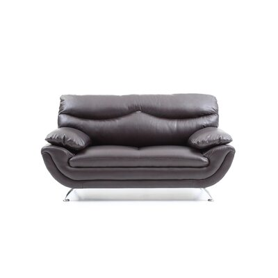 Xamiera Loveseat Color: Cappuccino
