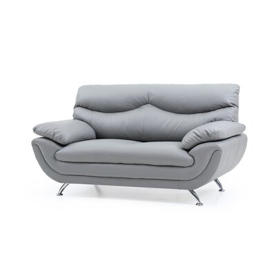 Xamiera Loveseat Color: Gray