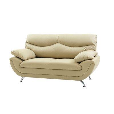 Xamiera Loveseat Upholstery: Beige