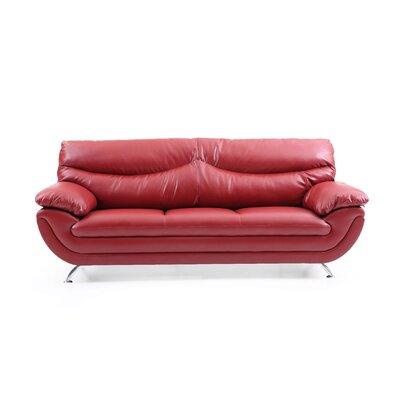 Xamiera Sofa Color: Red
