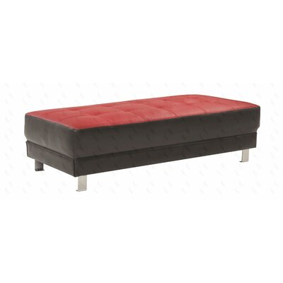 Jameel Ottoman Upholstery: Red/Black