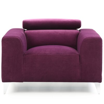 Stefan Armchair Color: Purple