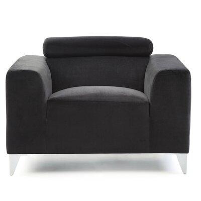 Stefan Armchair Color: Black