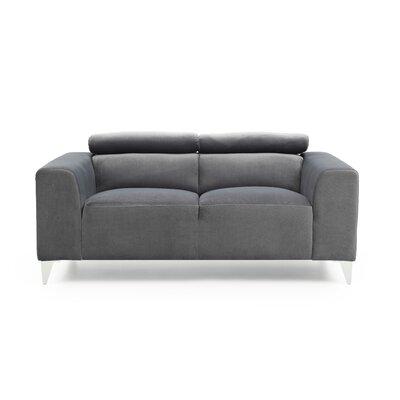 Stefan Loveseat Upholstery: Gray