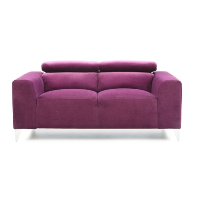 Stefan Loveseat Color: Purple