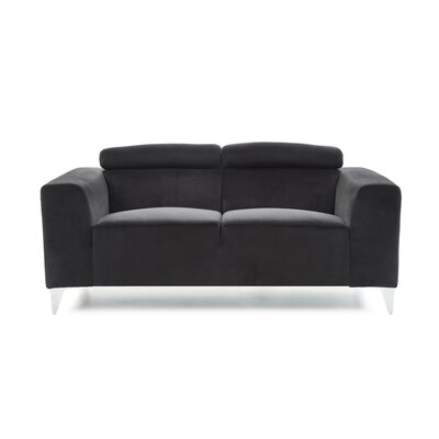 Stefan Loveseat Color: Black