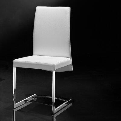 Skyler Parsons Chair (Set of 2) Upholstery: White