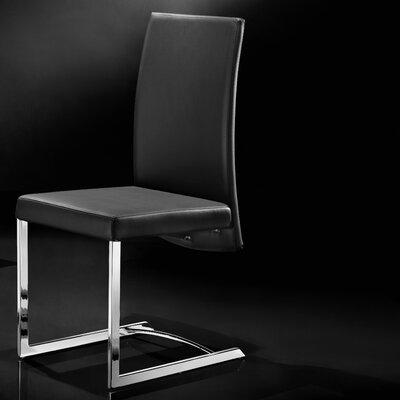 Skyler Parsons Chair (Set of 2) Upholstery: Black