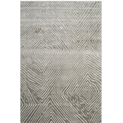 Moorhouse Hand-Woven Gray Area Rug Rug Size: Rectangle 6 x 9