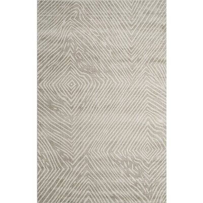 Moorhouse Hand-Woven Gray Area Rug Rug Size: 6 x 9