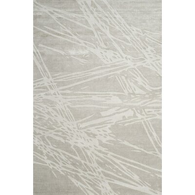 Moorhouse Hand-Woven Gray Area Rug Rug Size: Rectangle 9' x 12'