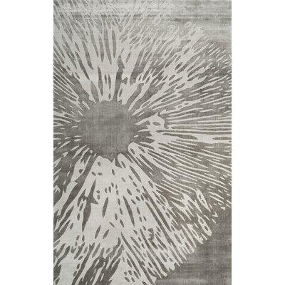 Moorhouse Hand-Woven Gray Area Rug Rug Size: 8 x 10