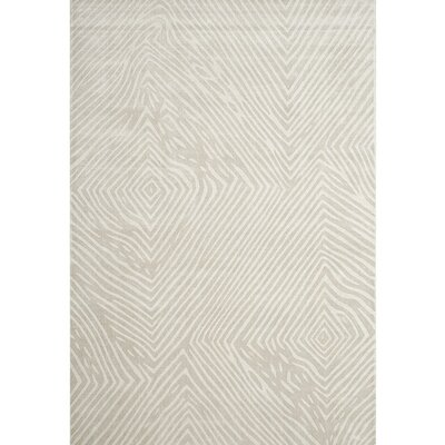 Moorhouse Hand-Woven Beige/Gray Area Rug Rug Size: 8 x 10