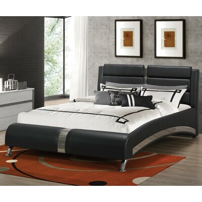 Mallory Upholstered Platform Bed Size: California King