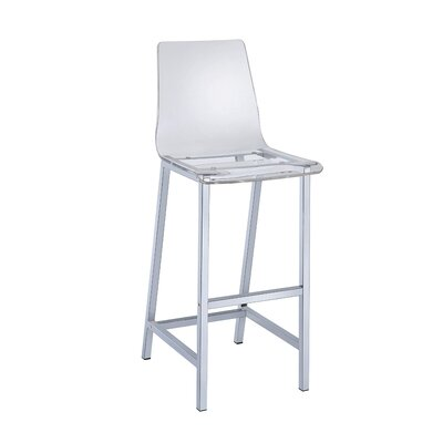 Ivy 46 Bar Stool Upholstery: Clear