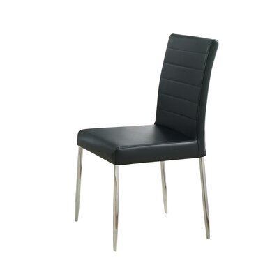 Melanie Side Chair Upholstery Color: Black