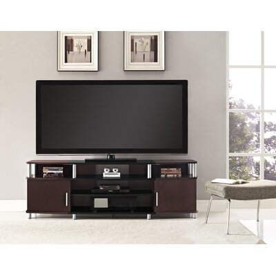 Elian TV Stand Color: Black/Cherry, Size: 63 W