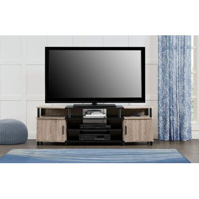 Elian TV Stand Color: Sonoma Oak/Black, Size: 63 W