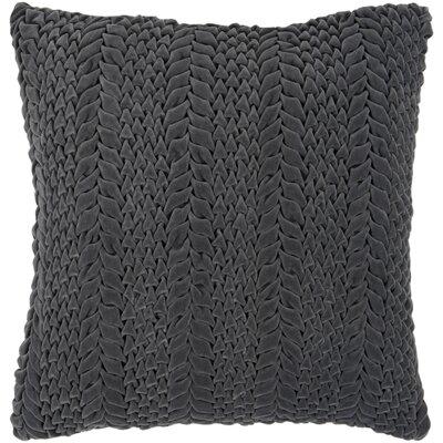 Idina 100% Cotton Velvet Throw Pillow Cover Size: 22 H x 22 W x 1 D, Color: Dark Green