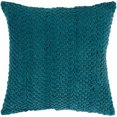 Idina 100% Cotton Velvet Throw Pillow Cover Size: 18 H x 18 W x 0.25 D, Color: Green