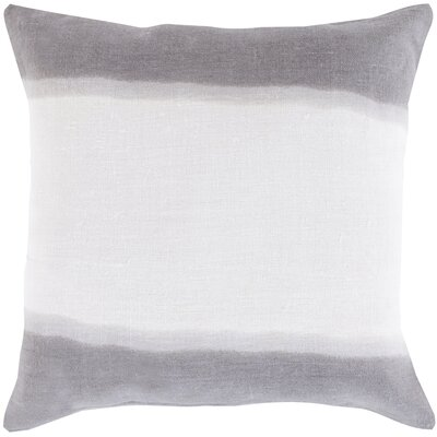 Selena Double Dip 100% Linen Throw Pillow Cover Size: 18 H x 18 W x 0.25 D