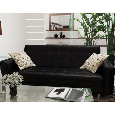 Spirit Lake Sleeper Loveseat Upholstery: Black