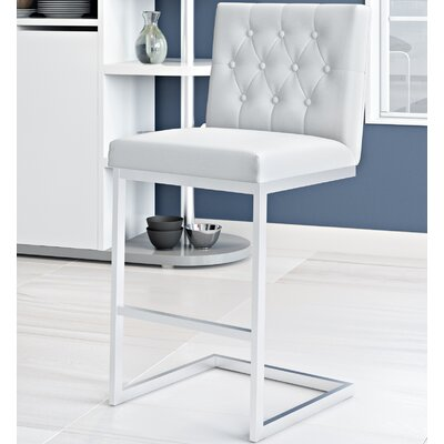 Borough Park 25.9 Square Bar Stool Upholstery: White