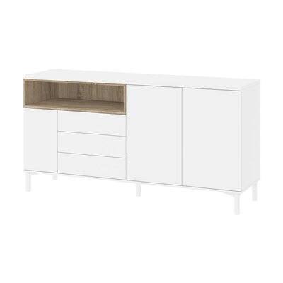 Boggess Sideboard Color: White/Oak