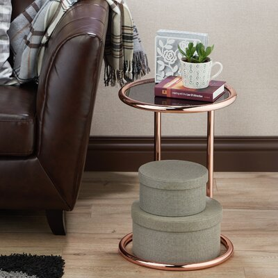 Arlo End Table Finish: Rose Gold