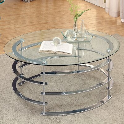 Scylla Coffee Table Base Finish: Chrome