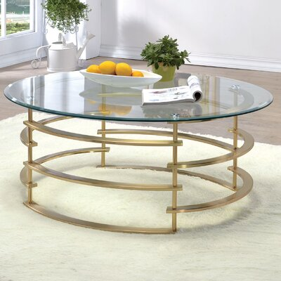 Scylla Coffee Table Base Color: Gold