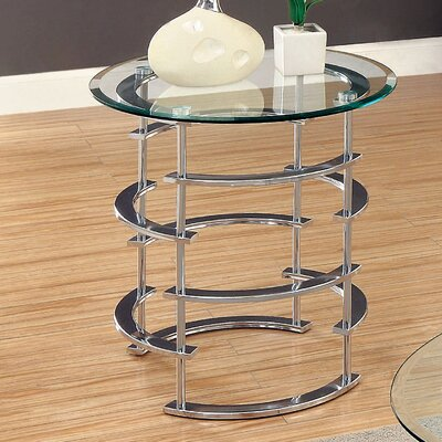 Scylla End Table Base Color: Chrome