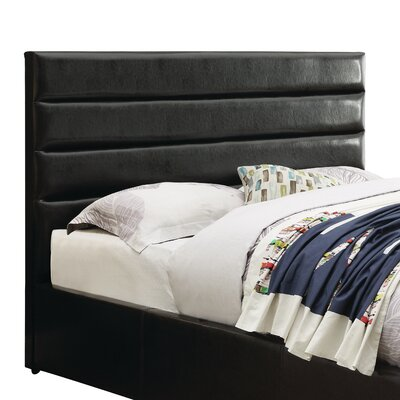 Rual Upholstered Panel Headboard Size: California King