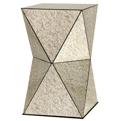 Tre Geometric End Table Finish: Mirrored