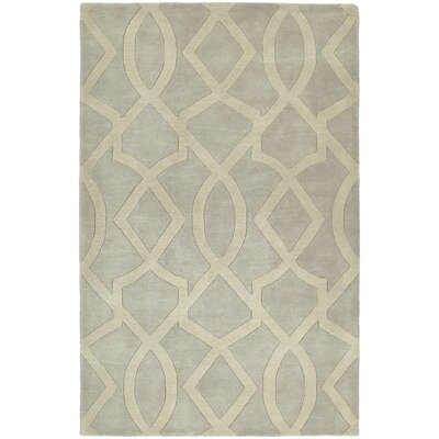 Brooks Hand-Tufted Ivory/Gray Area Rug Rug Size: Rectangle 76 x 9