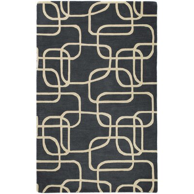 Carter Ebony Area Rug Rug Size: Rectangle 3 x 5