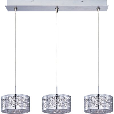 Echo Contemporary 3-Light RapidJack Pendant and Canopy