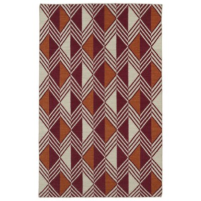 Cory Red Geometric Area Rug Rug Size: Rectangle 5 x 8